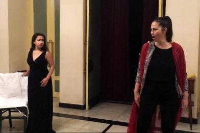 Rehearsal: Lisa Algozzini as Poppea in 'L'incoronazione di Poppea' with the Greek Opera Festival in Athens