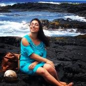 Punalu'u Black Sand Beach, Hawai'i