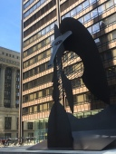 The Chicago Picasso is an sculpture dedicated on August 15, 1967, in Daley Plaza in the Chicago Loop, is 50 feet tall and weighs 162 short tons (50 W Washington St.)