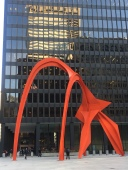 Flamingo by Alexander Calder, is a sculpture 53-feet tall located in Federal Plaza in (50 W Adams St.)