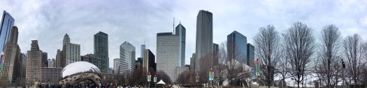 Skyline from Millennium Park, Chicago