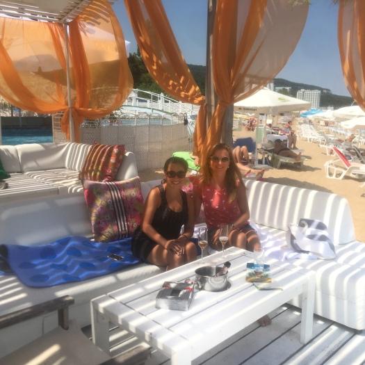 Girls trip, Black Sea at the Golden Sands in Varna, Bulgaria